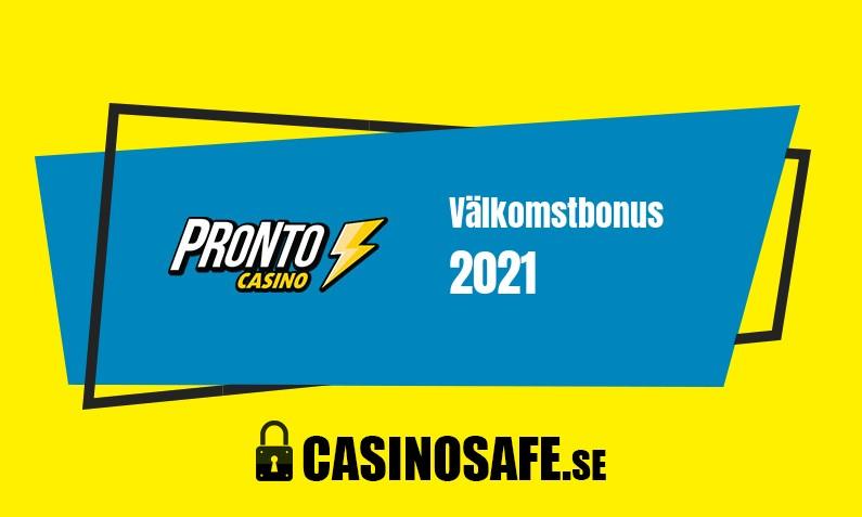Pronto Casino bonusar och recension